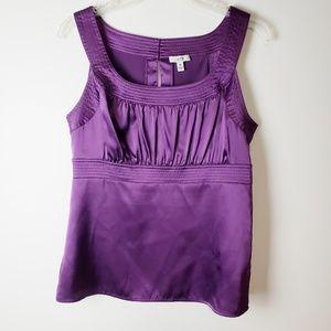 Cache Purple Sleeveless Blouse Size M
